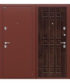 Дверь входная металлическая Оптим Старт Антик Медь / П-28 Темная Вишня