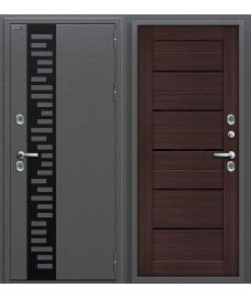 Дверь с терморазрывом входная металлическая Оптим Термо 222 Антик Серебро / Cappuccino Veralinga