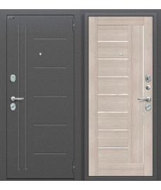 Дверь входная металлическая Оптим Флэш Антик Серебро / Cappuccino Veralinga