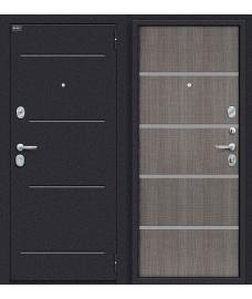 Дверь входная металлическая Оптим Лайн Лунный камень / Grey Crosscut