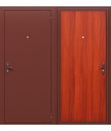 Дверь входная металлическая Оптим Стройгост РФ Антик Медь / Л-11 (ИталОрех)