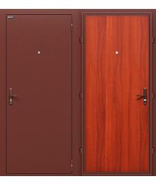Дверь входная металлическая Оптим Эконом Антик Медь / М-11 ИталОрех