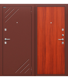 Дверь входная металлическая Оптим Стандарт Антик Медь / М-11 ИталОрех