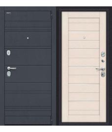 Дверь входная металлическая Оптим Проф Антик Серебро / Wenge Veralinga