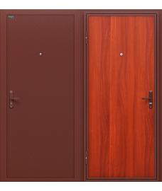 Дверь входная металлическая Оптим Инсайд Эконом Антик Медь / М-11 ИталОрех