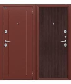 Дверь входная металлическая Оптим Норма Антик Медь / Wenge Veralinga