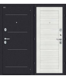 Дверь входная металлическая Оптим Техно Лунный камень / Bianco Veralinga