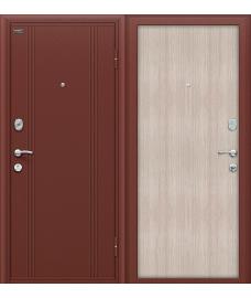 Дверь входная металлическая Оптим Door Out 201 Антик Медь / Cappuccino Veralinga