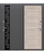 Дверь с терморазрывом входная металлическая Оптим Термо 220 Антик Серебро / Cappuccino Veralinga