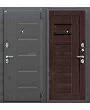 Дверь входная металлическая Оптим Проф Антик Серебро / Bianco Veralinga