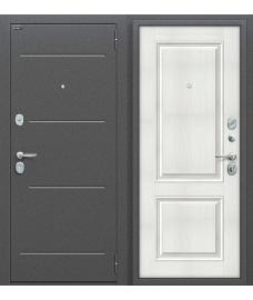 Дверь входная металлическая Оптим Стиль Антик Серебро / Bianco Veralinga