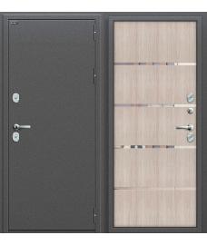 Дверь с терморазрывом входная металлическая Оптим Термо 204 Антик Серебро / Wenge Veralinga