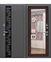 Дверь с терморазрывом входная металлическая Оптим Термо 204 Антик Серебро / Cappuccino Veralinga