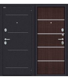 Дверь входная металлическая Оптим Лайн Лунный камень / Wenge Crosscut