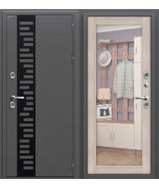 Дверь с терморазрывом входная металлическая Оптим Термо 220 Антик Серебро / Wenge Veralinga