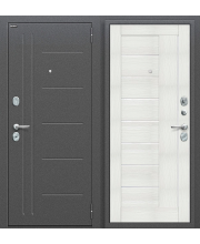 Дверь входная металлическая Оптим Проф Антик Серебро / Cappuccino Veralinga