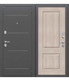 Дверь входная металлическая Оптим Стиль Антик Серебро / Cappuccino Veralinga
