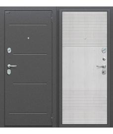 Дверь входная металлическая Оптим Фит Антик Серебро / Pine Feelwood