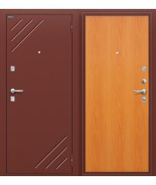 Дверь входная металлическая Оптим Стандарт Антик Медь / М-12 МиланОрех