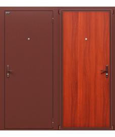 Дверь входная металлическая Оптим Билд Антик Медь / М-11 ИталОрех