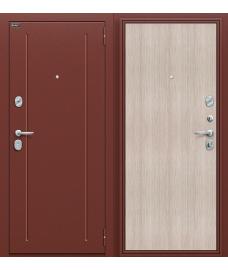 Дверь входная металлическая Оптим Норма Антик Медь / Cappuccino Veralinga
