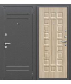 Дверь входная металлическая Оптим Нова Антик Серебро / П-34 Шимо Светлый