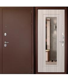 Входная дверь Гарант-1 Зеркало Сандал белый