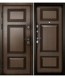 Входная дверь Порта Темный орех Патина