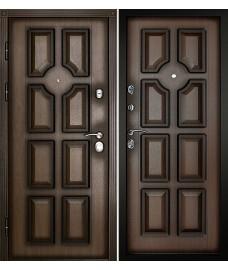Входная дверь Милан Темный орех Патина