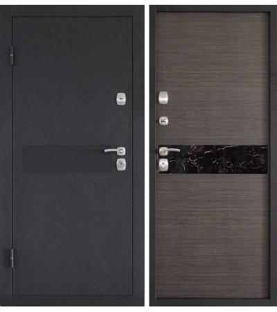 Дверь металлическая Аллегро темная