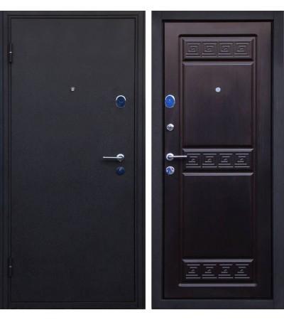 Дверь металлическая Афина черный шелк/венге