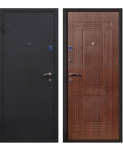 Дверь металлическая Ампир черный шелк/венге