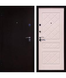 Дверь металлическая ЭКО медный антик/беленый дуб