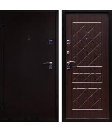Дверь металлическая ЭКО медный антик/венге