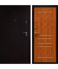 Дверь металлическая ЭКО медный антик/золотой дуб