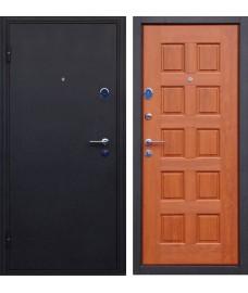 Дверь металлическая ТРОЯ черный шелк/золотой дуб