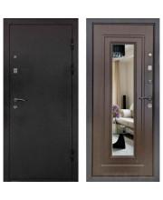 Дверь металлическая Престиж Венге с зеркалом