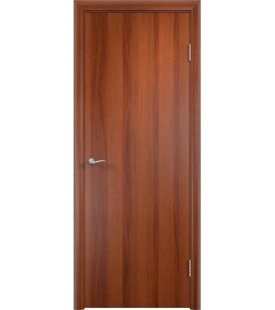ламинированнная дверь Гладкая ПГ итальянский орех