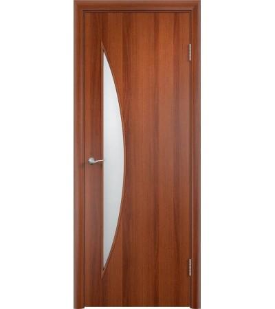 ламинированнная дверь Парус ПО итальянский орех