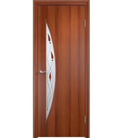 ламинированнная дверь Парус ПОВ итальянский орех