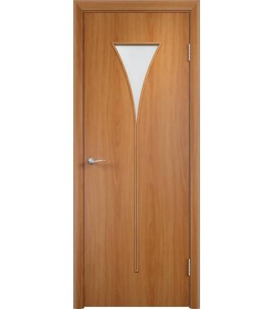 ламинированнная дверь Рюмка ПО миланский орех