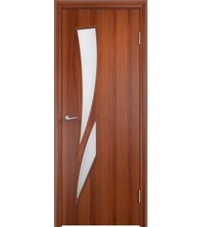 ламинированнная дверь Стрелиция ПО итальянский орех