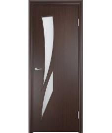 Дверь Стрелиция ПО венге