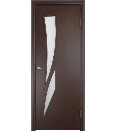 ламинированнная дверь Стрелиция ПО венге