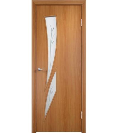 ламинированнная дверь Стрелиция ПОФ миланский орех