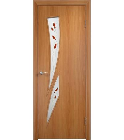 ламинированнная дверь Стрелиция ПОВ миланский орех