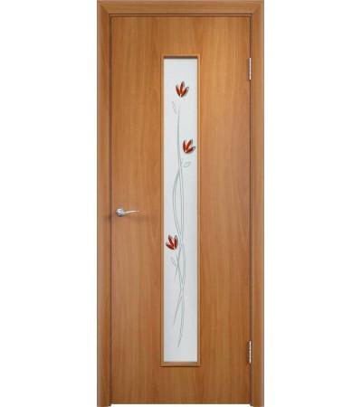 ламинированнная дверь Тифани ПО миланский орех