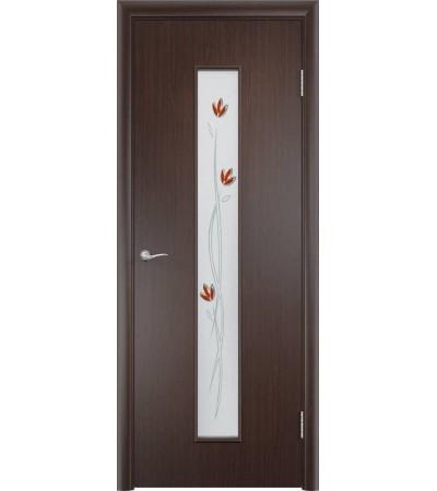 ламинированнная дверь Тифани ПО венге