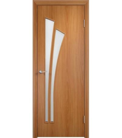 ламинированнная дверь Ветка ПО миланский орех