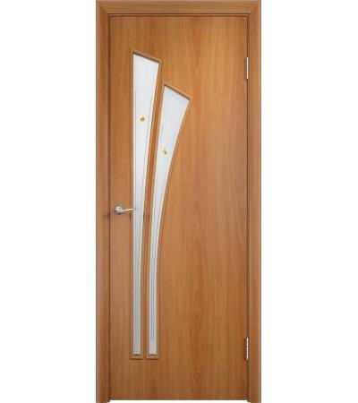 ламинированнная дверь Ветка ПОФ миланский орех